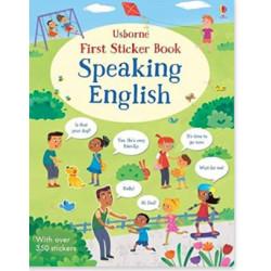 Premier livre d'autocollants parlant anglais