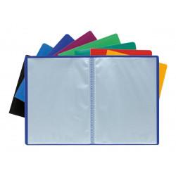 Porte vues A4 40 pochettes soit 80 vues disponible en coloris assortis