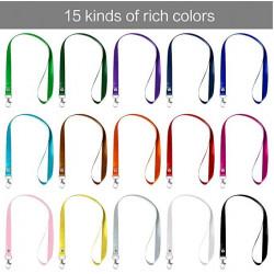 Cordons colorés en nylon avec crochets pivotants pour badge