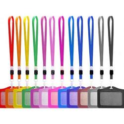 Porte Badges avec lanières multi coloris disponibles