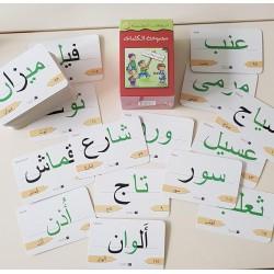 Cartes mots de vocabulaire en lettres   مجموعة الكلمات البطااقات التعليمية