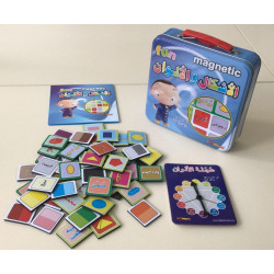 Magnetic Fun - Jeu de magnets de couleurs et formes en arabe