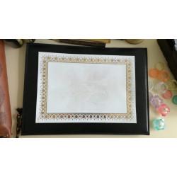Feuille de calligraphie décorée A4 - 21 x 29,5cm