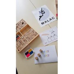 Tampons lettres arabes avec voyelles طوابع الحروف العربية