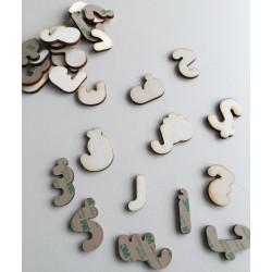 Lettres arabe en bois autocollantes