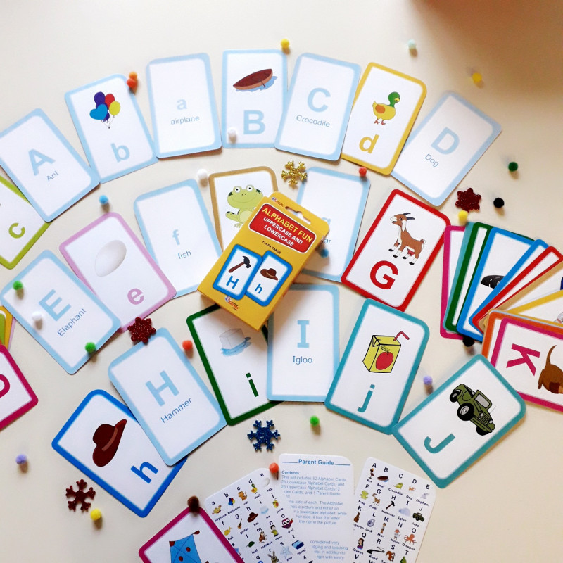 Alphabet Fun Uppercase and lowercase ( Flash cards)