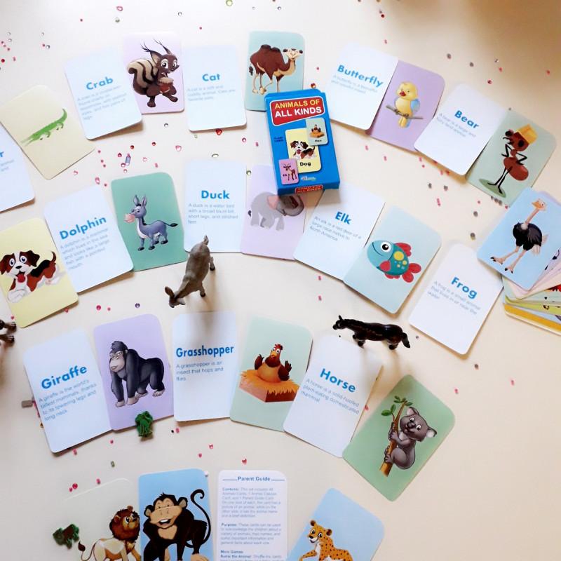 Cartes Flash des animaux de tous types