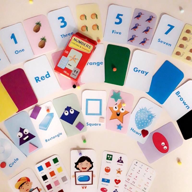 Nombres Couleurs et Formes (flash cards)