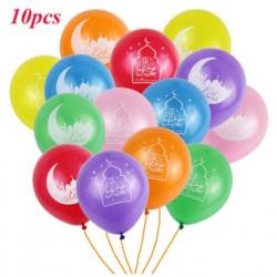 Lot de 10 Ballons multicolors spécial EID MUBARAK