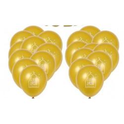 Lot de 10 Ballons Dorés spécial EID MUBARAK