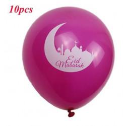 Lot de 10 Ballons Roses spécial EID MUBARAK