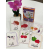 Les animaux, les fruits et les légumes Pack de 28 cartes de jeu et  de vocabulaire
