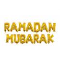 Décoration mot Ramadan MUBARAK en ballon