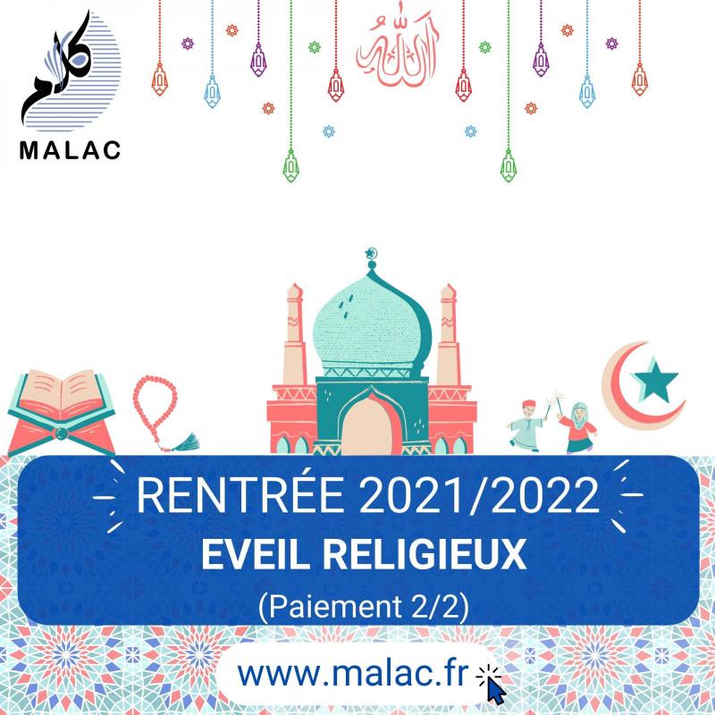 Eveil religieux (Paiement 2/2) pour 2021/2022