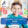 Arabe (Paiement 2/2) pour 2021/2022