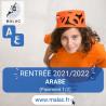 Arabe (Paiement 1/2) pour 2021/2022